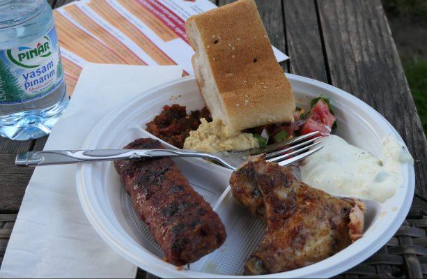 Mittagessen vom Grill