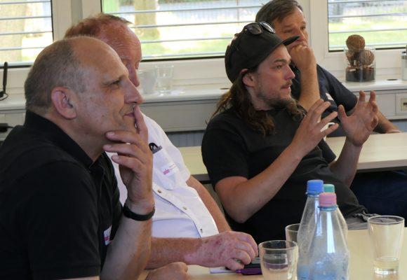 Jorge Guimet und Florian Haeussler beim Zukunftsworkshop