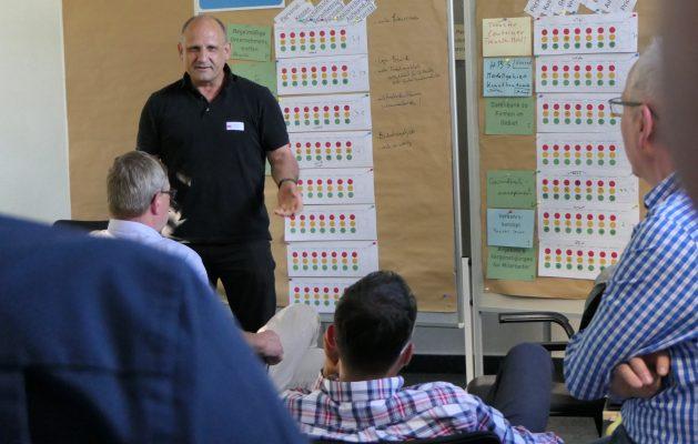 Jorge Guimet, Vorstand des UnternehmensNetzwerks Herzbergstraße beim Zukunftsworkshop